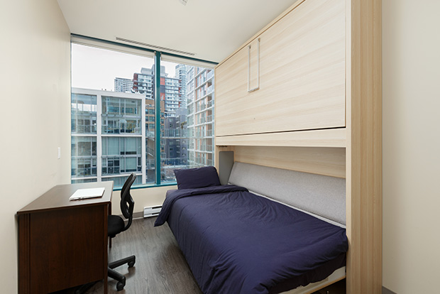 Private Bedrooms at GEC Viva include one convertible loft bed or twin bed for each student