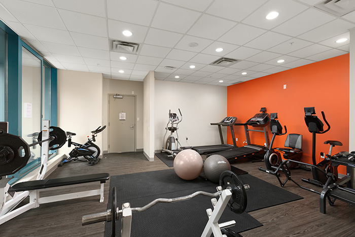 GEC Viva student residence apartments has complimentary free access to the fitness gym with a beautiful view