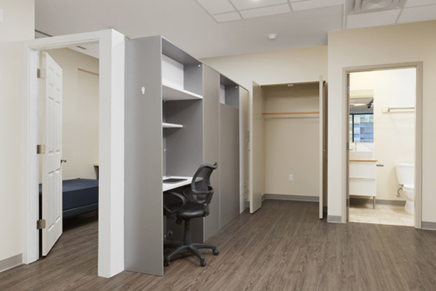 Each student has a private desk and bed in the Sectioned Private Bedroom at GEC Viva