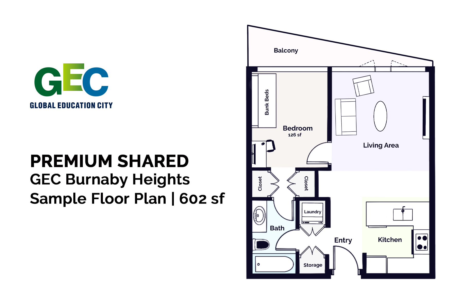 Premium Shared Bedroom floor plan