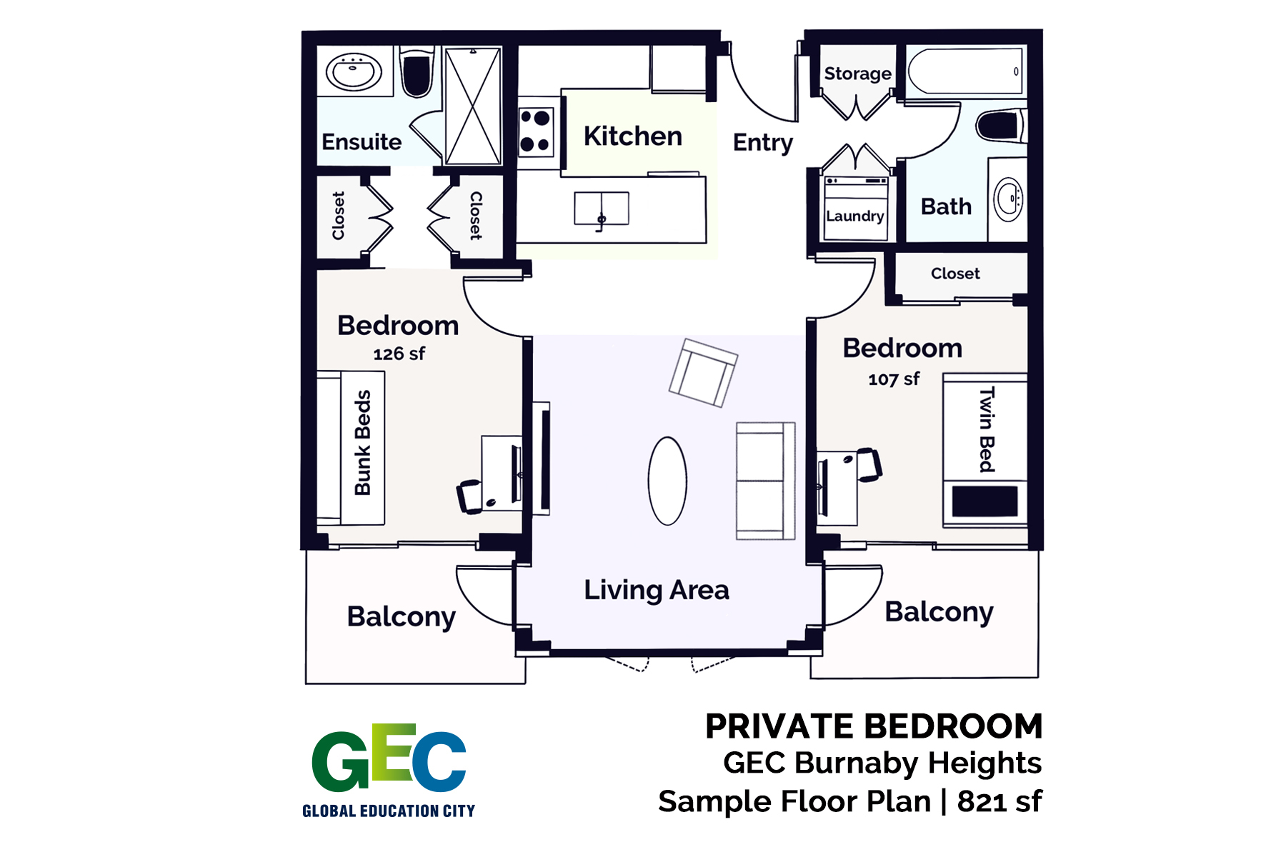 Private Bedroom floor plan