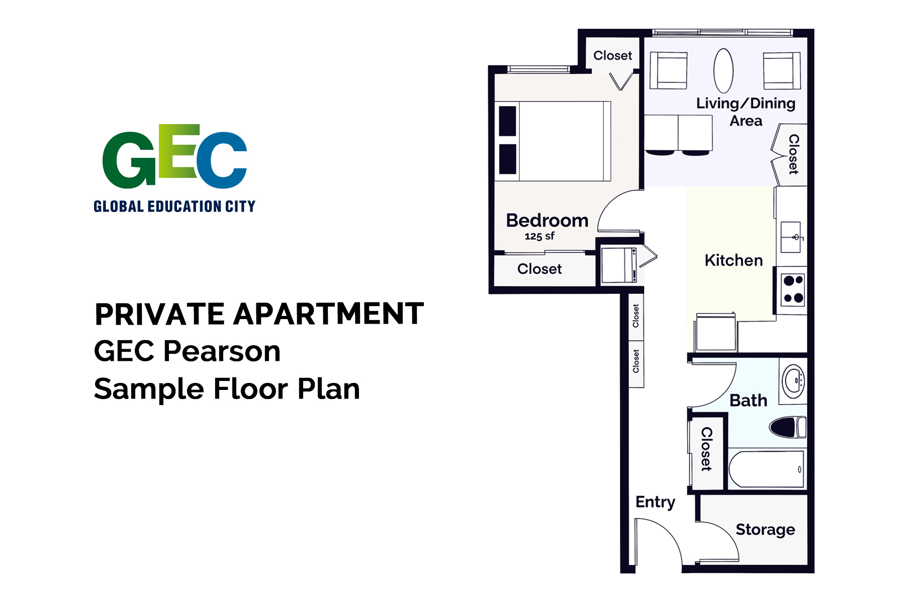Premium 1 Bedroom Apartment floor plan