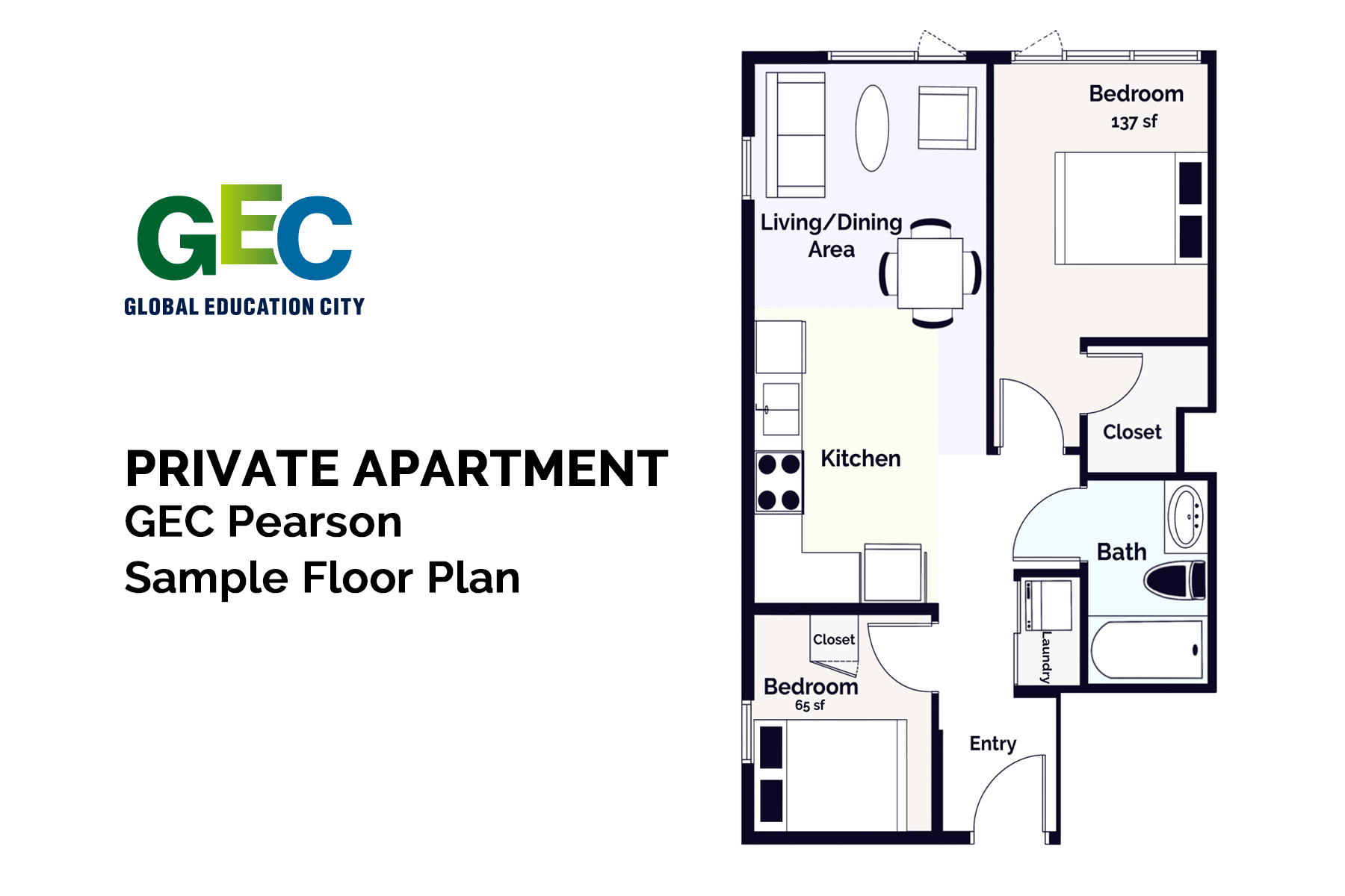 Premium 2 Bedroom Apartment floor plan