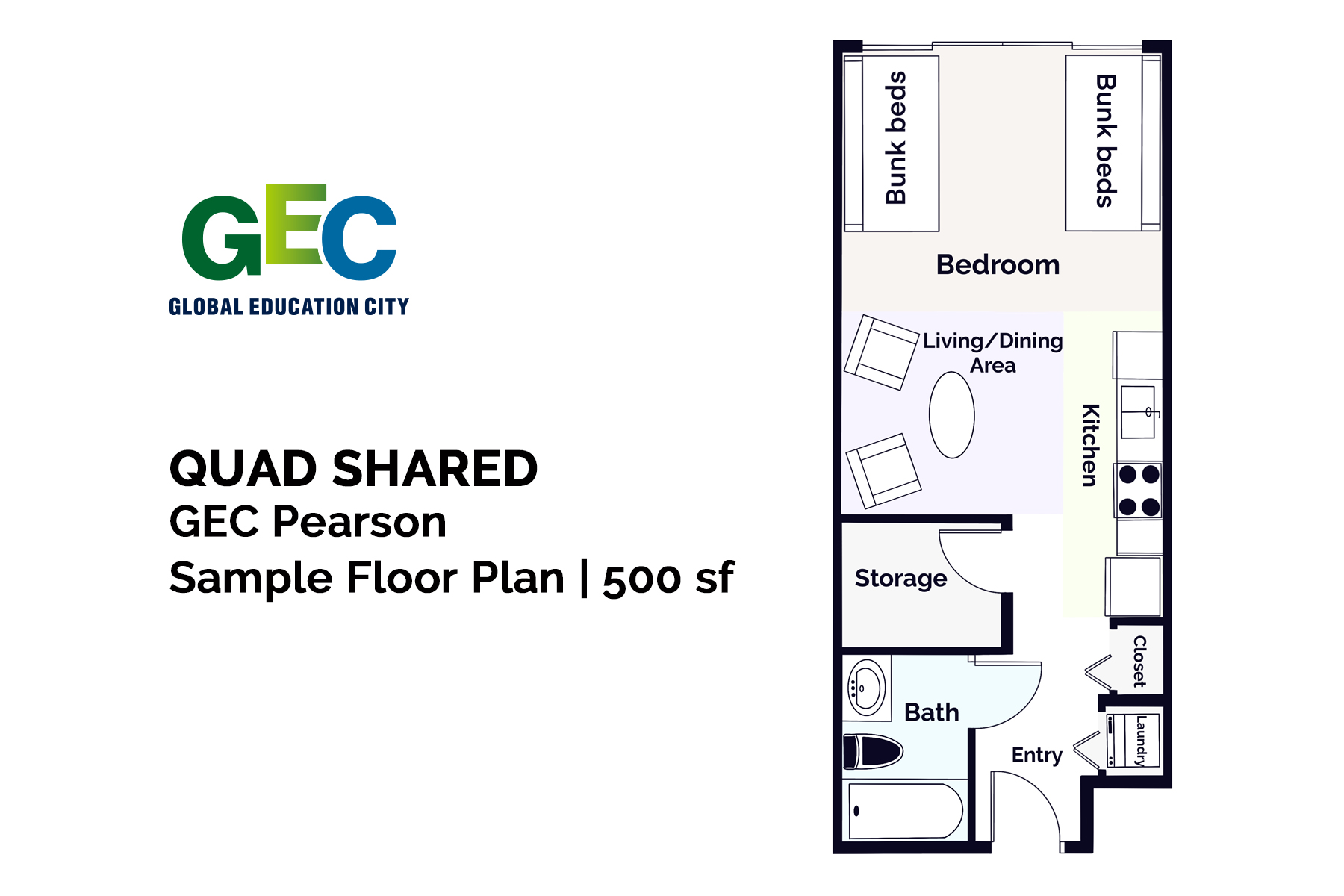 Quad Shared floor plan