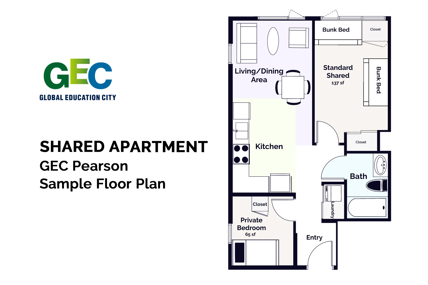 Standard Shared Bedroom floor plan
