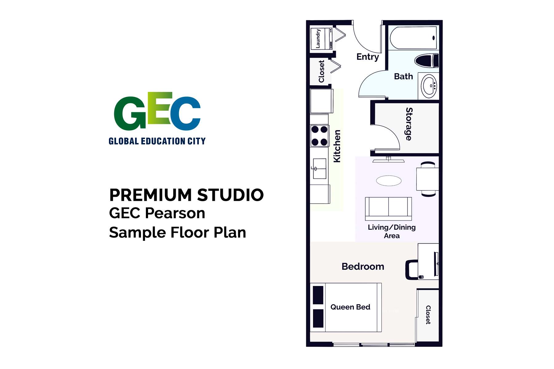 Premium Studio Apartment floor plan