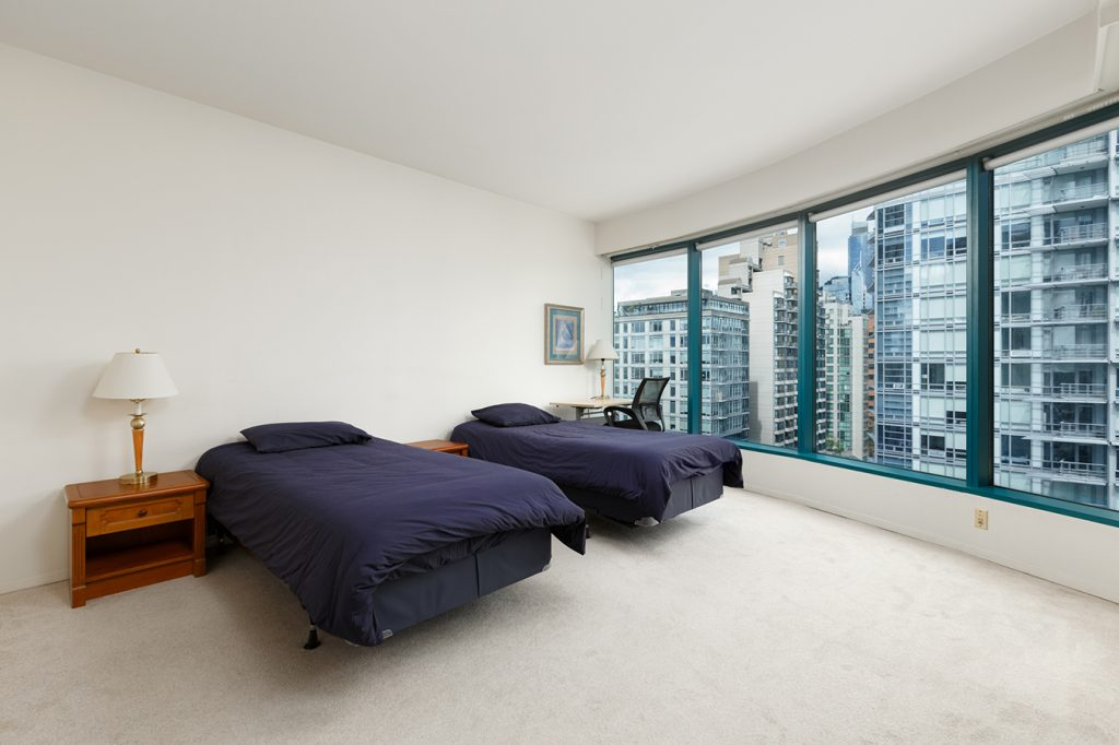 Premium Shared Bedroom at GEC Viva student housing residences in Downtown Vancouver in a one bedroom shared apartment