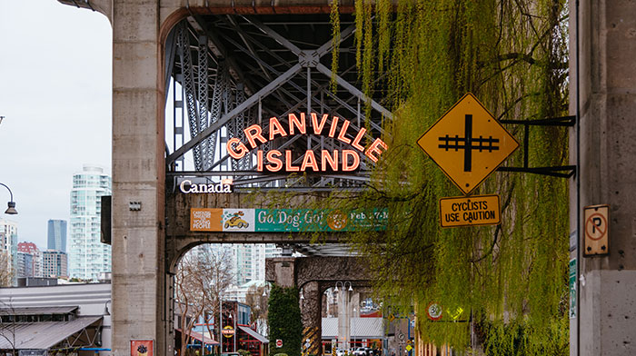 Granville Island is near GEC Viva student residences and GEC Granville Suites long term and extended stay hotel in Downtown Vancouver