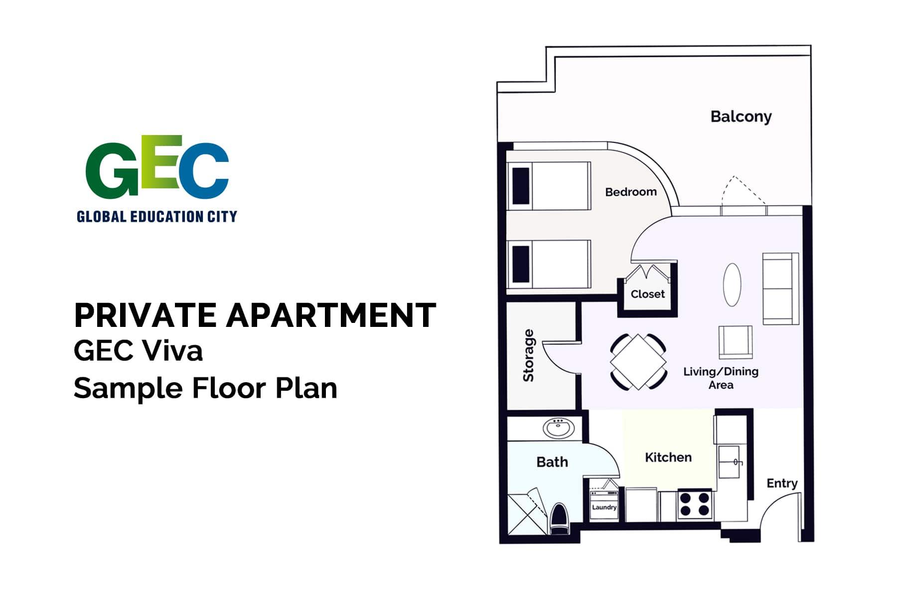 Premium Shared Bedroom floor plan
