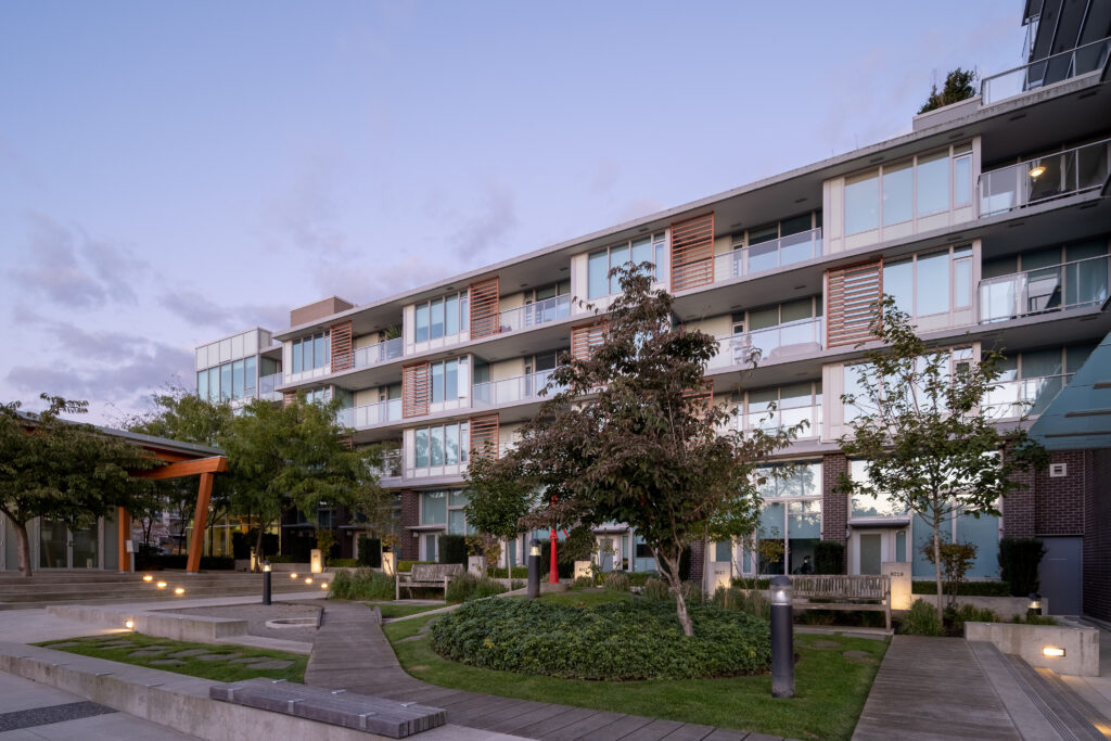 GEC Marine Gateway student residence and rental apartments in South Vancouver