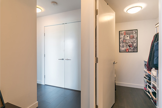 Spacious closet in a student housing accommodation at GEC in Vancouver, British Columbia, Canada