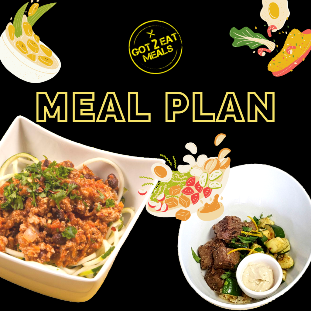GEC meal plans with Got 2 Eat Meals