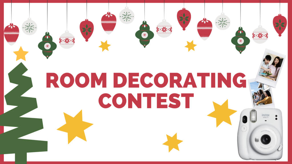 GEC student residence holiday room decorating contest on Instagram