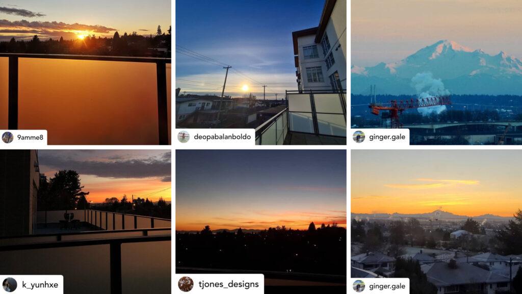 GEC sunset photo contest photo collage