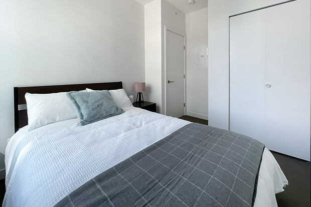 Private bedroom accommodations at GEC Marine Gateway Vancouver residences