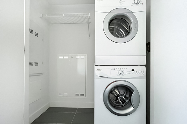 In-suite laundry machines in GEC Marine Gateway Vancouver apartments