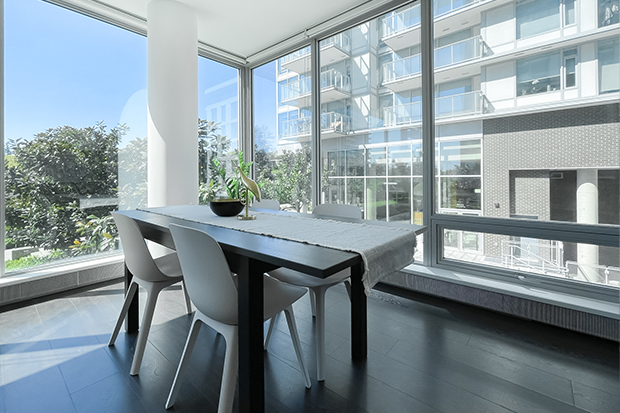 Spacious two bedroom student apartment at GEC Marine Gateway in South Vancouver