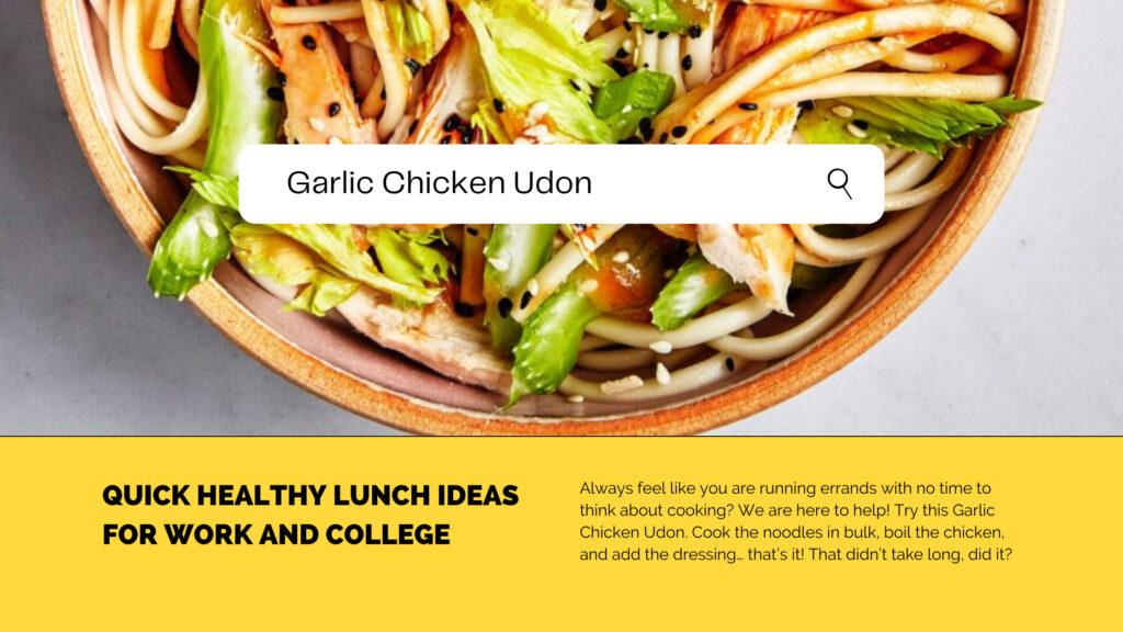 Make-at-Home: Garlic Chicken Udon
